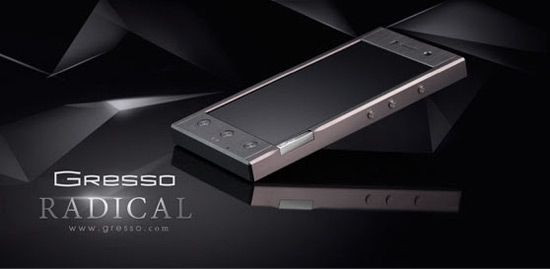 Gresso Radical - Luxury Android Smartphone Coated in Titanium