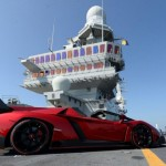 Lamborghini Veneno Roadster Debuted in Abu Dhabi on an Aircraft Carrier