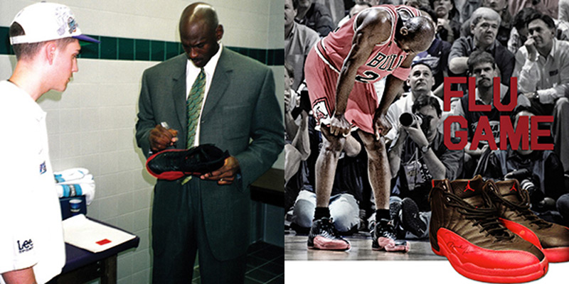 Michael Jordan s  Flu Game  shoes auctioned for record  104 25187e832