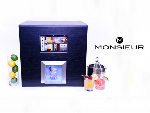 Monsieur, the robotic bartender, mixes the perfect cocktail and learns from your choices