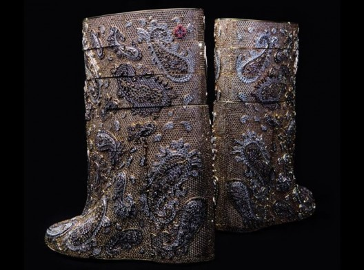 The most expensive boots are diamond studded and cost $3.1 million