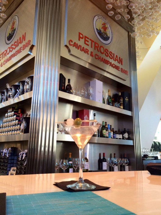 Petrossian's Champagne and caviar bar at LAX Airport