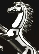 Limited Edition Silver sculpture of the Prancing Horse