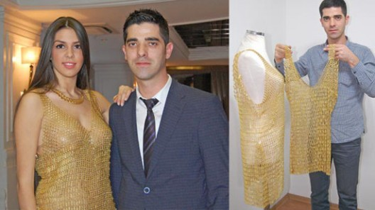 dresses made of pure gold
