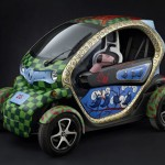 Renault Twizy as Artwork by Jacque Tange at Charity Auction