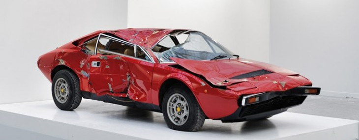 Smashed Ferrari Dino Sold for $250,000 as Contemporary Art