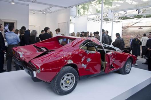 Wrecked Ferrari Sells for $250k as Objet Trouvé in Paris