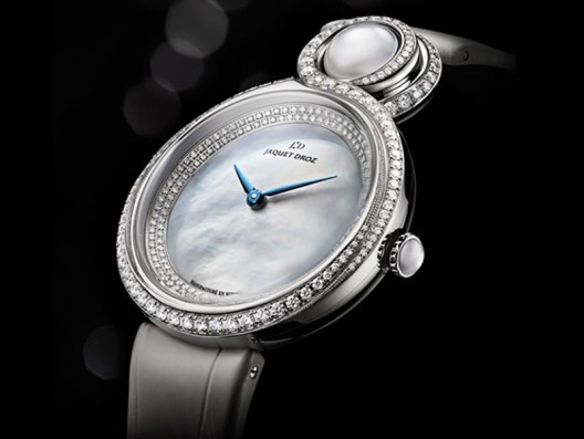 Jaquet Droz 'The Lady 8? watch comes with pearls and precious stones to accentuate its grace