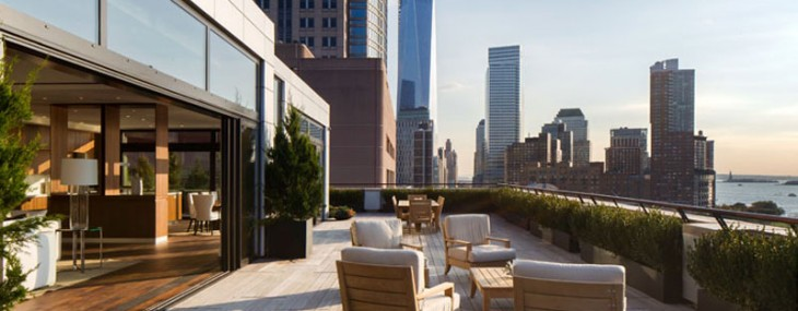 The brand new penthouse with almost 120 feet of western facing frontage on the river is listed for $39,5 million