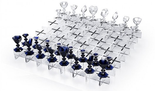 Baccarat celebrates 250 years with a limited edition giant chess set made of crystal