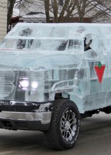 Ice Truck Is On The Road