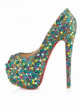 Shine and dazzle into 2014 with Christian Louboutin's Daffodile 160 Crystal Embellished pumps