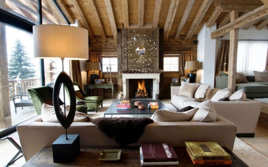 The luxury ski chalet introduces you to fine quality details within a heart-warming environment