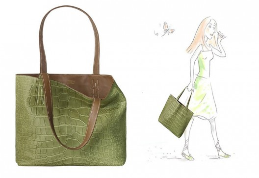 Hermès Double Sens Croco Chiffon Reversible Tote Is Up For $38,000