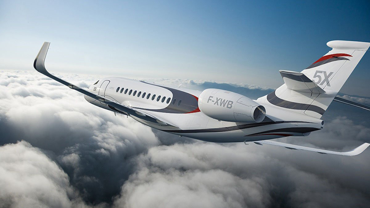 Dassault Falcon 5X: The First Skylight Private Jet