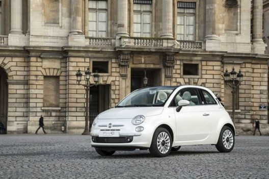 A limited edition Fiat 500 dedicated to Guerlain's La petite Robe Noire perfume
