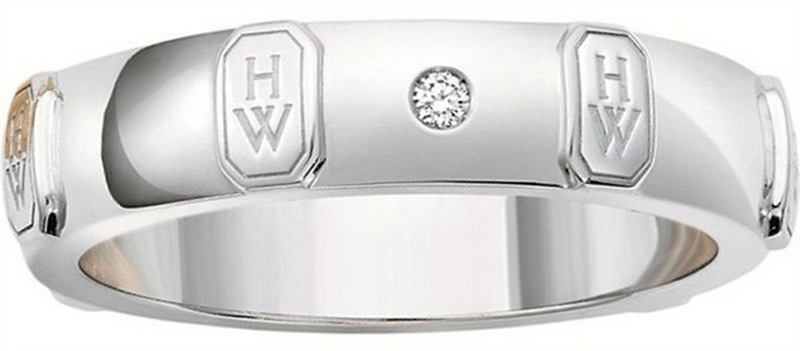 Harry Winstons New HW Logo Wedding Bands eXtravaganzi