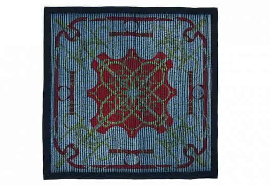 Hermès Indigo Silk Scarf Collection Unveiled