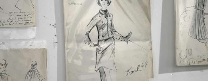 Karl Lagerfeld Sketches From Pre-Chanel Era Hits Auction