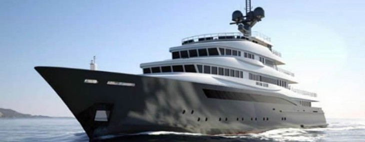 Perfect for a wolf of wall street – A luxury yacht that comes with its own helipad