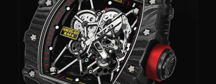 Richard Mille designs a Tourbillon enclosed in a carbon case for tennis ace Rafael Nadal