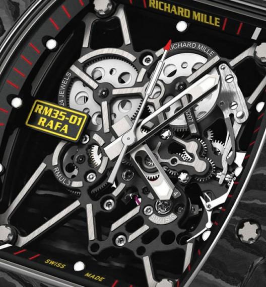 Richard Mille designs a Tourbillon enclosed in a carbon case for tennis ace Rafael Nadal