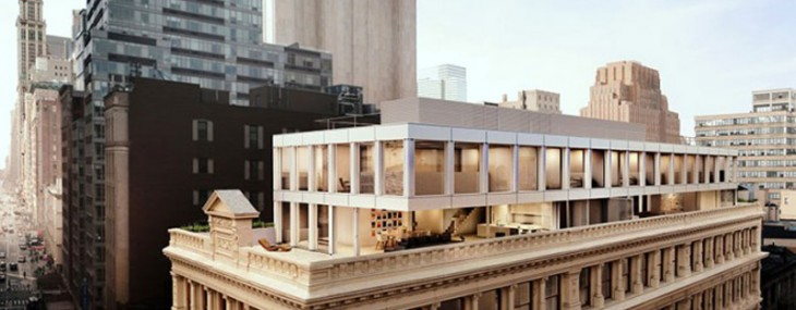 Shigeru Ban's New Glassy Pair of Penthouses Atop an Existing Tribeca Building
