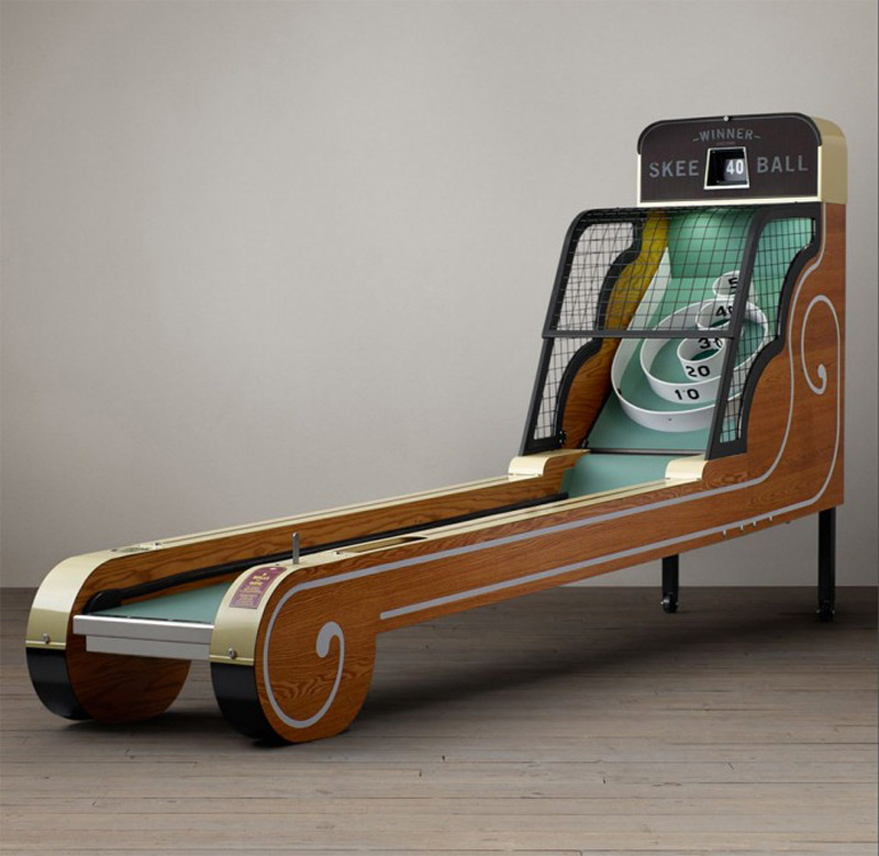 Vintage Arcade Skeeball machine for some retro playtime