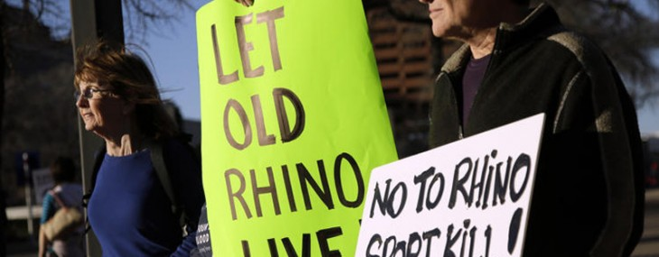 Permit to hunt black rhino sells in auction for $350, 000