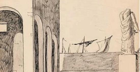 1913 Drawing by Giorgio de Chirico