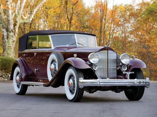 Original Dietrich 1932 Packard Twin Six Individual Custom Convertible Sedan