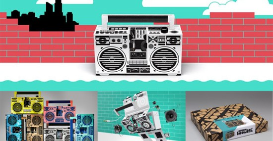 Berlin Boombox – Cool Soundsystem Made from Cardboard