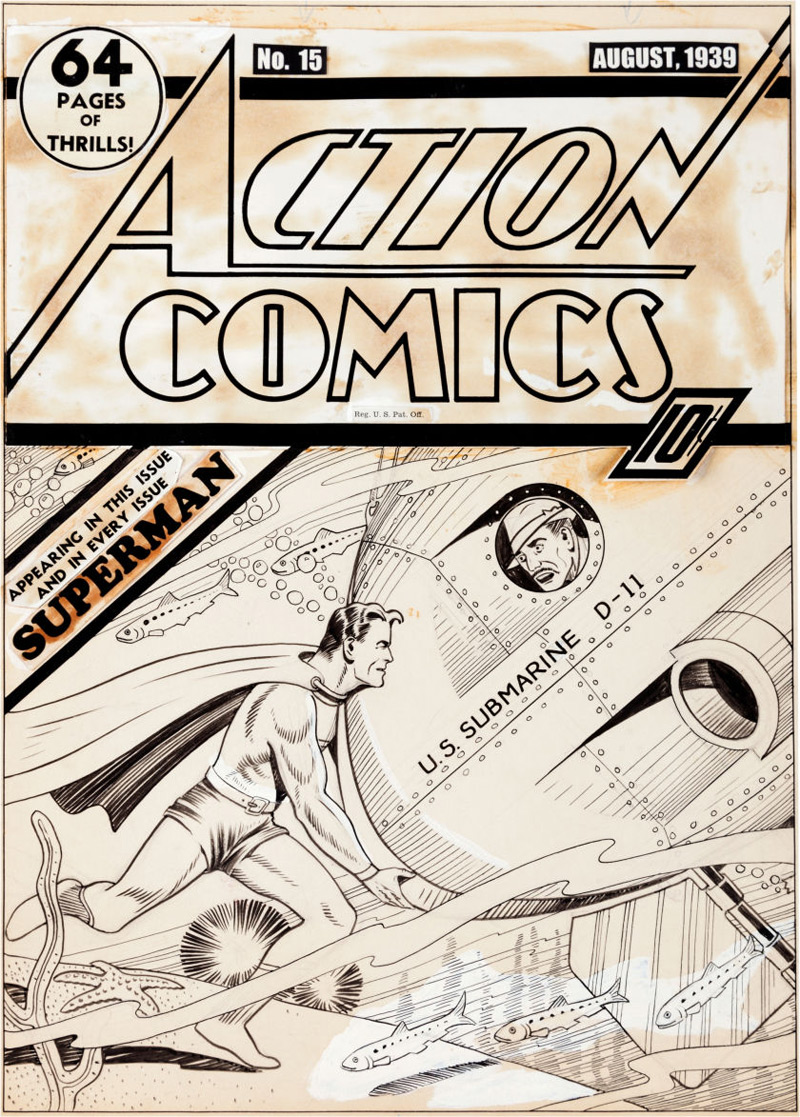 Earliest Superman Cover Art Known To Exist May Bring $200,000+ At Heritage Auctions In New York
