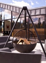 Gather Your Friends Around Cowboy Cauldron Portable Fire Pit and Grill