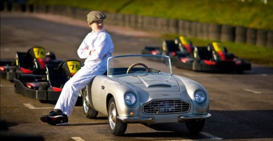 Car dealer sells mini Aston Martins for kids