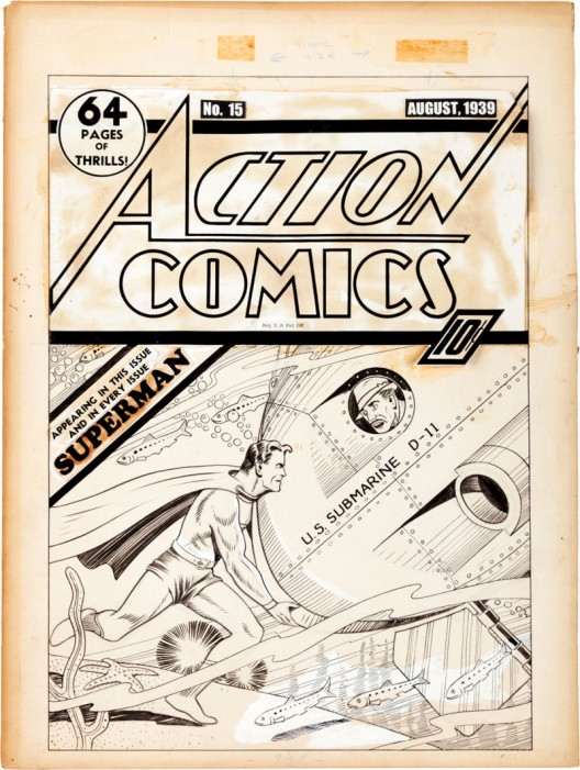 Earliest Superman Cover Art Ever Sold Brings $286,800	Earliest Superman Cover Art Ever Sold Brings $286,800	Superman cover art known to exist sold for $286,800 at Heritage Auctions' Vintage Comics Signature Auction