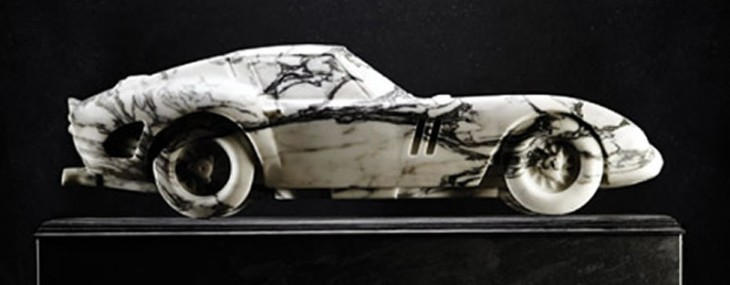 This replica of Ferrari 250 GTO carved out of marble is the perfect centerpiece for your mansion