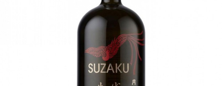 Suzaku premium sake from House of Gekkeikan
