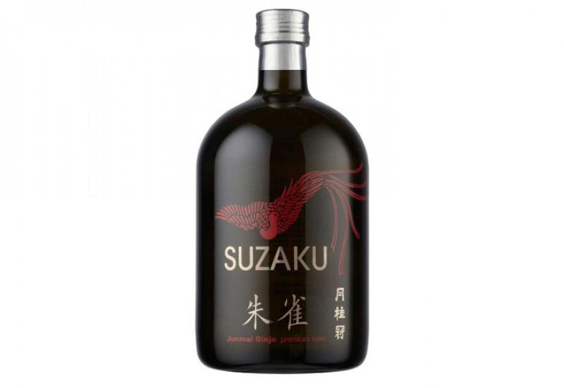 Suzaku premium sake from House of Gekkeikan