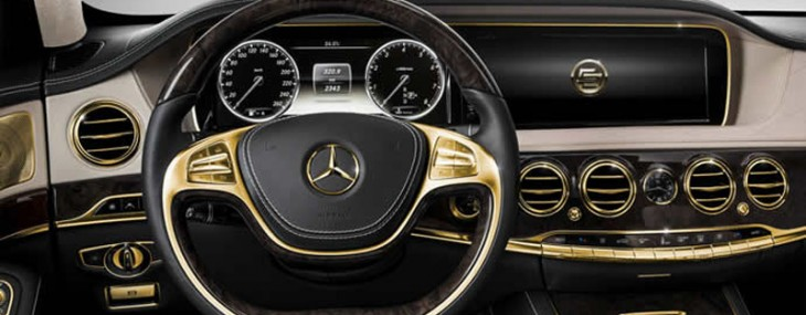 Blinged or bad taste? Gilding the interiors of the 2014 Mercedes S63 AMG
