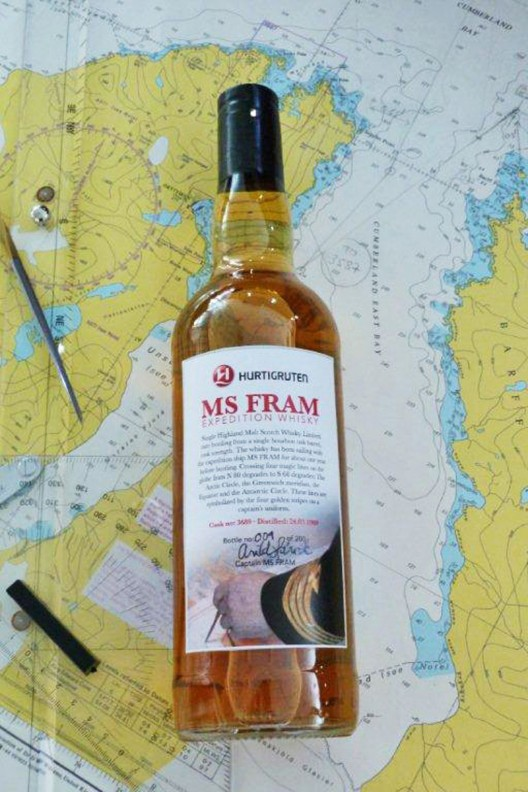 Luxury Cruise Line Hurtigruten Launches the MS Fram Whisky Project
