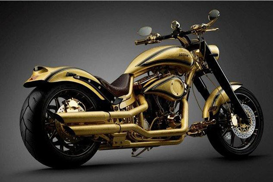At $880,000 this gold plated and diamond encrusted Danish chopper is the most expensive motorcycle