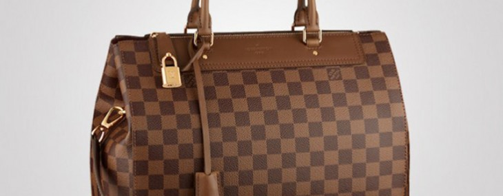 Louis Vuitton men's classic Greenwich now refashioned as Damier canvas handbag for women