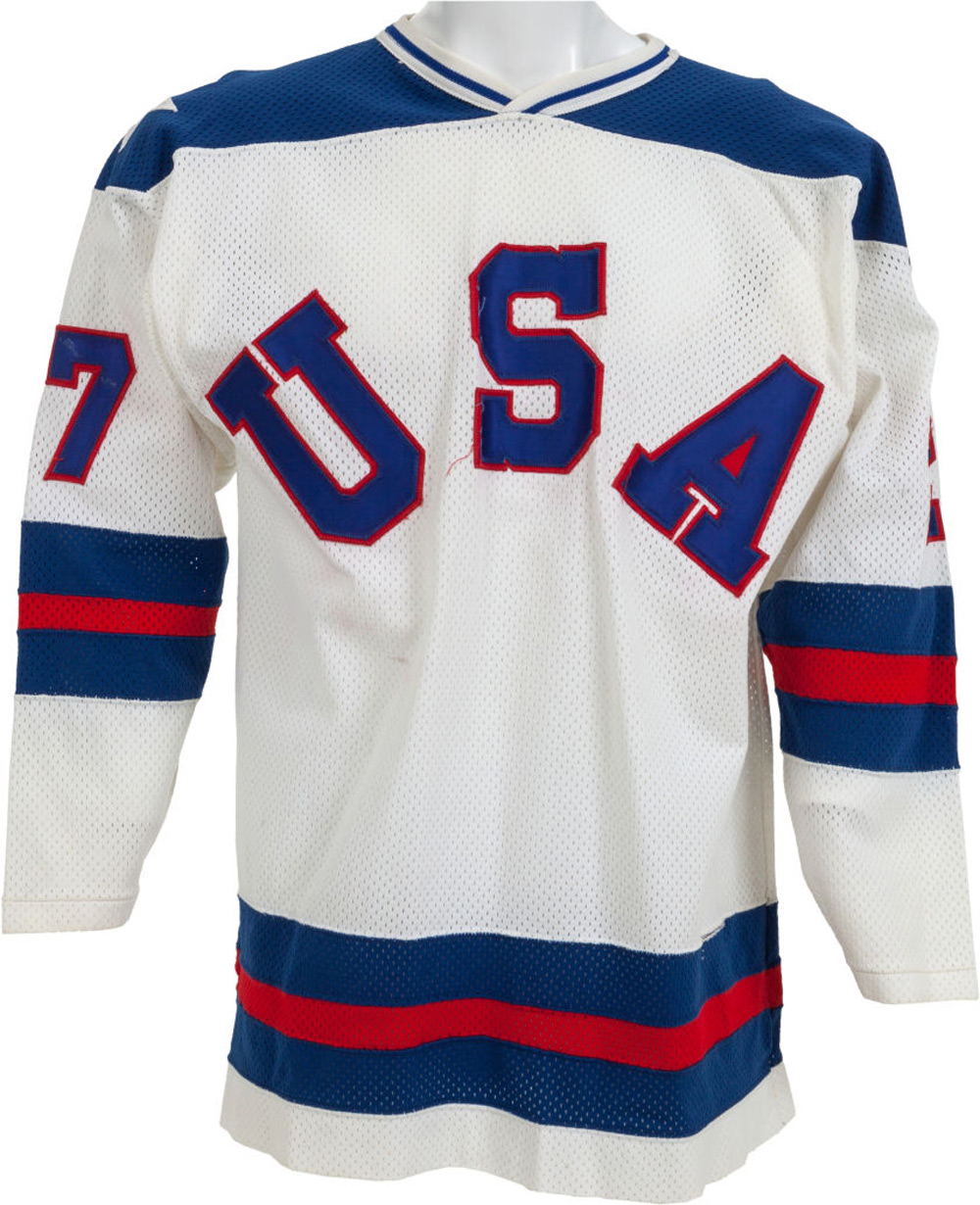 "1980 Phil Verchota ""The Miracle on Ice"" Game Worn USA Olympic Hockey Jersey"