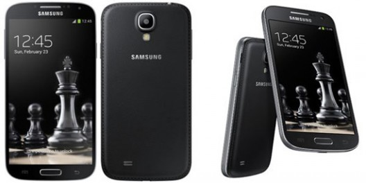 Special edition Samsung Black Galaxy S4 and S4 Mini with faux leather is exclusive to Russia