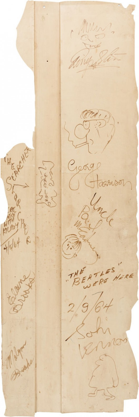 Beatles-Signed Backdrop From Their First The Ed Sullivan Show Appearance Emerges At Auction 50 Years Later