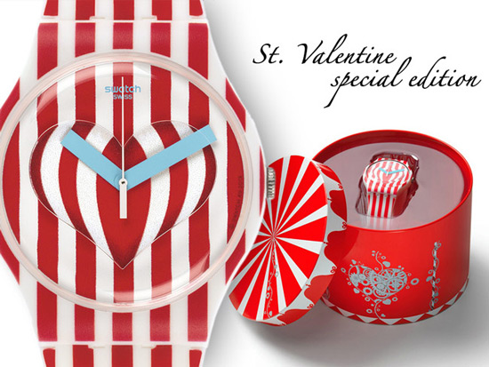For day dedicated to St. Valentin has prepared a new version of watch