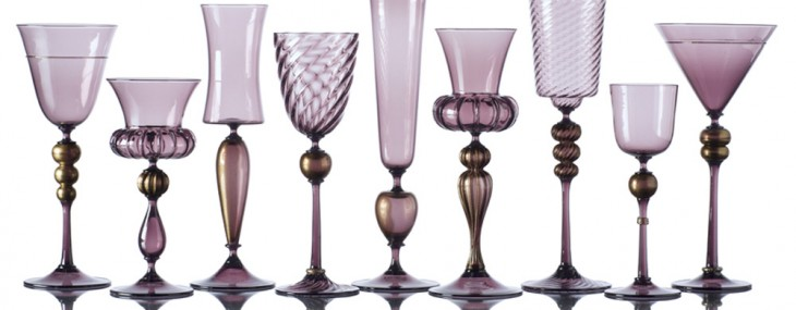 Hand-Blown Venetian-Inspired Goblets With 24k Gold Leaf Fit for Royalty