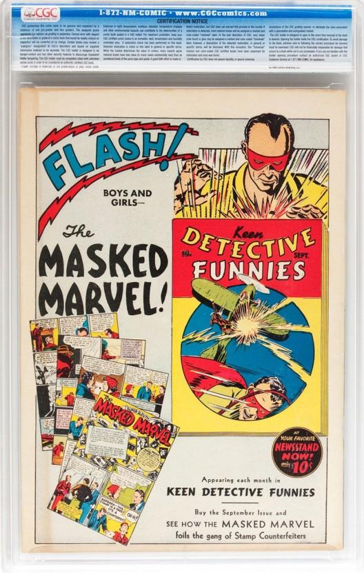 Vintage Comics Signature Auction in New York
