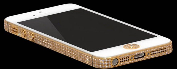 The million dollar iPhone is made of pure gold and studded with 100 carats of shiny diamonds